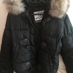 Geacă de iarnă cu vulpe polară