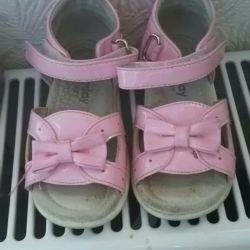 Children's sandals play today