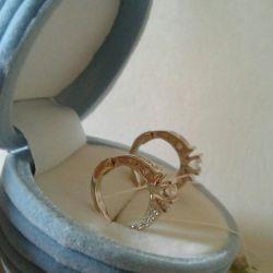 Earrings white gold