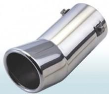 The muffler nozzle (stainless steel) with a bevel bent