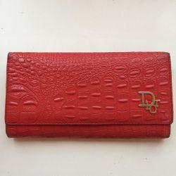 Purse genuine leather wallet