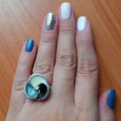 Колечко серебро/эмаль/фианит💍💍💍