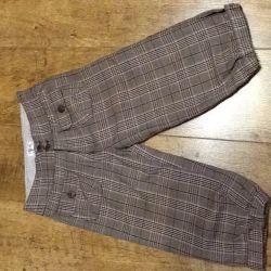 Укорочeнные брюки на девочку 128 см