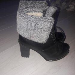 Ботинки зима,нет кожа