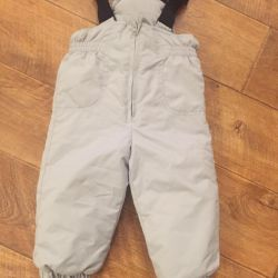 Trousers warmed with suspenders