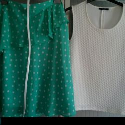 Новая юбка, топ и майка