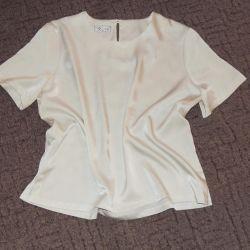 Жемчужная блузка из атласа