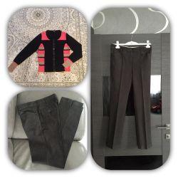 Брендовые брюки и кардиган
