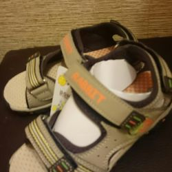 Sandals beige with brown p.30