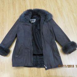 Женская куртка,нубук натуральная кожа