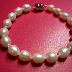 Magnetic Clasp Pearl Bracelet