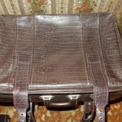 Suitcases of the times of the USSR