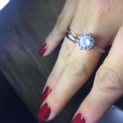 Ring costume jewelery 17 size new