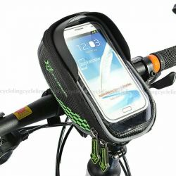 Bicycle bag on the wheel for smartphones up to 6 inches