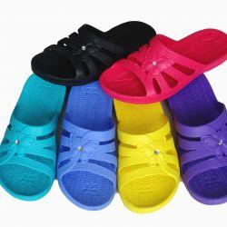 Washable women's bath slippers.