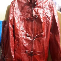 Women's leather jacket 46-48 size
