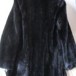 Lux negru MINK FUR COAT