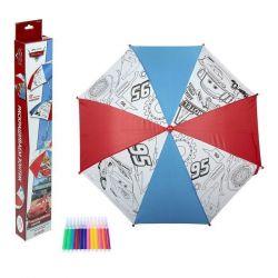 Зонтик для раскрашивания, 12 водостойких маркеров.