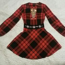 Checkered dress, exclusive! Bargain