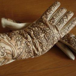 Шикарные кожаные перчатки