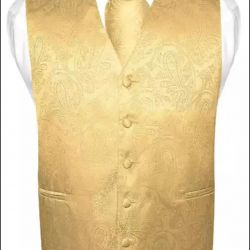 Vest man's gold color