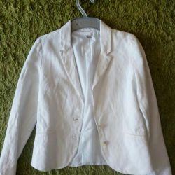 Μπουφάν (σακάκι) λευκό για το κορίτσι Zara.