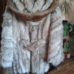 Short coat of lynx and mink combined