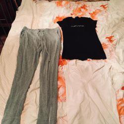 T-shirts, leggings, pants, pees, leggings