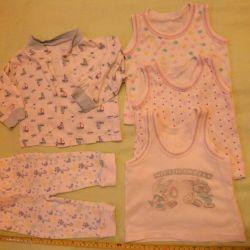 Chiloți, 3 tricouri, cămașă (timp de 2-3 luni) 50 ruble.