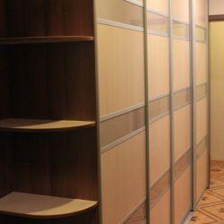 Sliding wardrobe in a hall