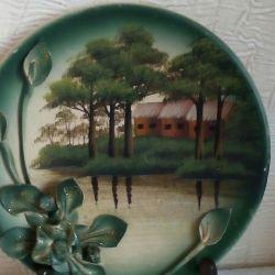 Decorative plate (handmade)