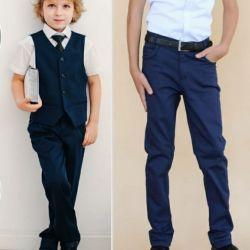 Trousers textile for schoolchildren.