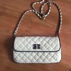 Τσάντα συμπλέκτη μοντέρνο κομψό δέρμα, topshop