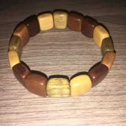 Natural wood bracelet from siberia