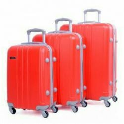 High-strength polycarbonate luggage.