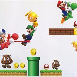 Виниловые наклейки Супер Марио
