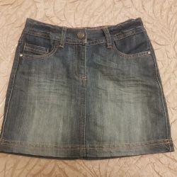 Jean φούστα για ένα κορίτσι 8 ετών