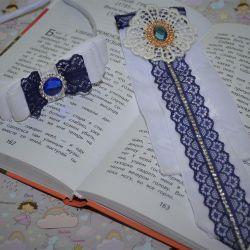 Handmade bezel and tie.