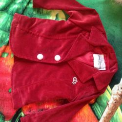 Children's jacket. Micro-velvet