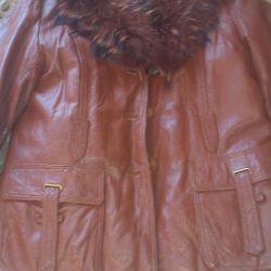 Leather women's jacket