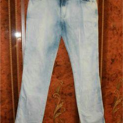 güzel mavi kot pantolon