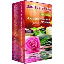 Mask of clay for hair, face and body