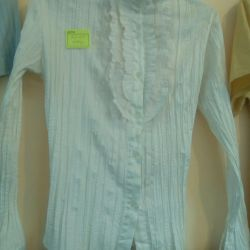 New blouse with a jabot 42-44