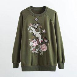 Nakışlı yeni sweatshirt. R.L