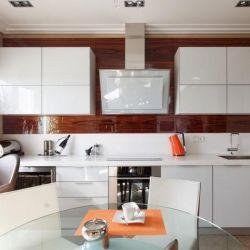Σετ κουζίνας Λευκή κουζίνα γυαλιστερό