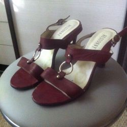 Sandals leather, 40 size