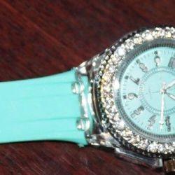 New watch with silicone bracelet