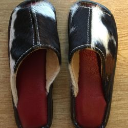 Slippers leather female new 36 size