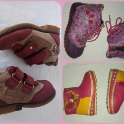 Boots girl skin orthop, p.21,22,24 (3pcs), very good