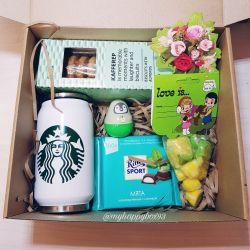 gift set in a box for a girl on February 14